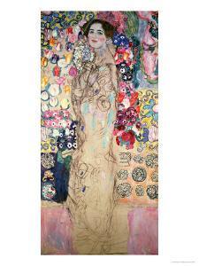 Portrait of Maria Munk (Unfinished 1917-18) by Gustav Klimt