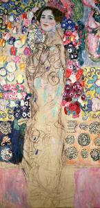 Portrait of Maria Munk (Unfinished 1917-18) by Gustav Klimt
