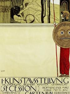 Poster for the First Art Exhibition of the Secession Art Movement by Gustav Klimt