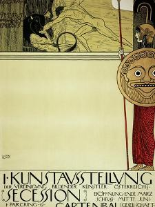 Poster for the First Exhibition of the Secession, 1897 by Gustav Klimt