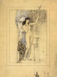 Preliminary Drawing for Allegory of Sculpture by Gustav Klimt