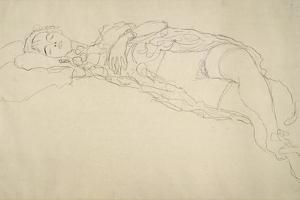 Reclining Nude 2 by Gustav Klimt