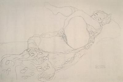 Reclining Nude with Leg Raised