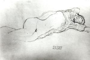 Reclining Woman, c.1914 by Gustav Klimt