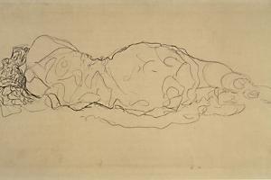 Reclining Woman, Seen from Behind by Gustav Klimt