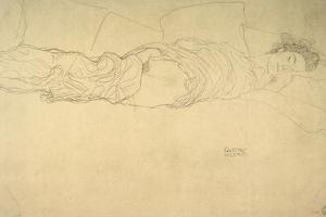 Reclining Woman by Gustav Klimt