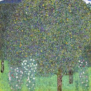 Rose Bushes under the Trees, C. 1905 by Gustav Klimt