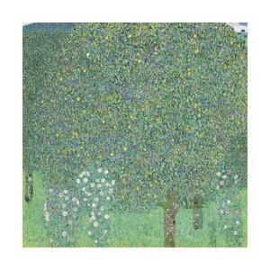 Rose Bushes Under the Trees by Gustav Klimt