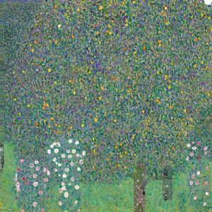 Rosebushes under the Trees by Gustav Klimt