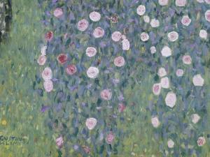 Rosiers sous les arbres by Gustav Klimt