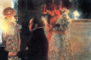 Schubert at the Piano by Gustav Klimt