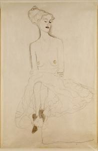 Seated Woman, 1908 by Gustav Klimt