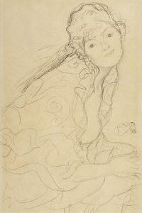 Seated Woman, Viewed from the Side by Gustav Klimt