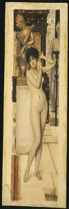 Skigge Und Eingelstudie Fur Die Allegorie Der Skulptor, 1890 by Gustav Klimt