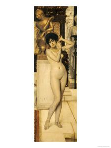 Skigge Und Eingelstudie Fur Die Allegorie Der Skulptur, 1890 by Gustav Klimt