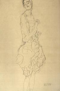Standing Dancer in Profile by Gustav Klimt