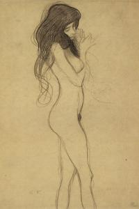 Standing Female Nude 1 by Gustav Klimt