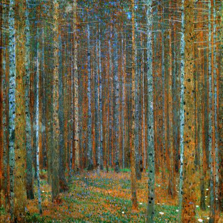 gustav-klimt-tannenwald-pine-forest-c-1902