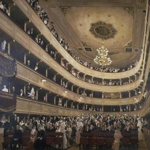 The Auditorium of the Old Castle Theatre, 1887/88 by Gustav Klimt