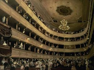 The Auditorium of the Old Castle Theatre, 1888 by Gustav Klimt
