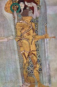 The Beethoven Frieze 2 by Gustav Klimt