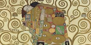 The Embrace (detail) by Gustav Klimt