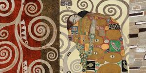 The Embrace (montage) by Gustav Klimt