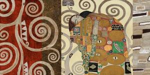 The Embrace (montage) by Gustav Klimt