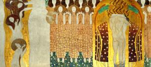 The Final Chorus of Beethoven's 9th Symphony by Gustav Klimt