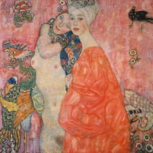 The Girlfriends, 1916/17 by Gustav Klimt