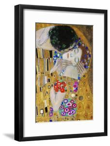 The Kiss, Der Kuss, Close-Up of Heads by Gustav Klimt