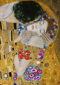 The Kiss, Der Kuss, Close-Up of Heads by Gustav Klimt