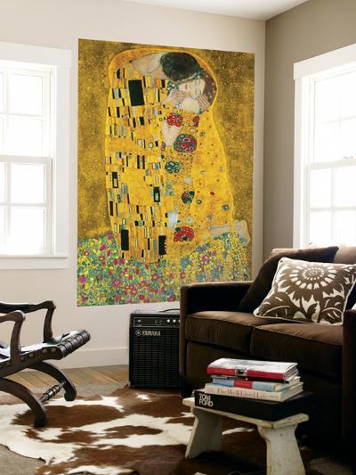 Gustav Klimt The Kiss Der Kuss Mural--Wallpaper Mural