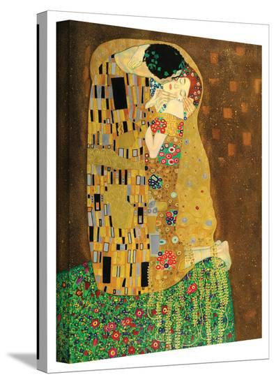 Gustav Klimt 'The Kiss' Gallery Wrapped Canvas-Gustav Klimt-Gallery Wrapped Canvas