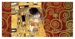 The Kiss (gold montage) by Gustav Klimt