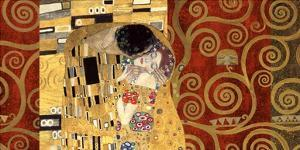 The Kiss (gold montage) by Gustav Klimt