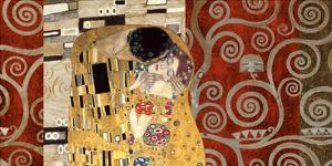 The Kiss (pewter montage) by Gustav Klimt