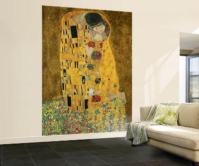 Gustav Klimt The Kiss Wall Mural--Wallpaper Mural