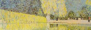 The Schonbrunn Park Detail by Gustav Klimt
