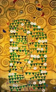 The Stoclet Frieze, Detail: Tree of Life, 1905-1909 by Gustav Klimt