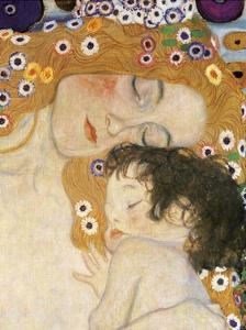 The Three Ages of Woman Detail by Gustav Klimt