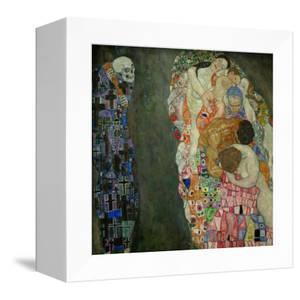 Tod und Leben. Oil on canvas (before 1911, finished 1915) 178 x 198 cm D 183. by Gustav Klimt