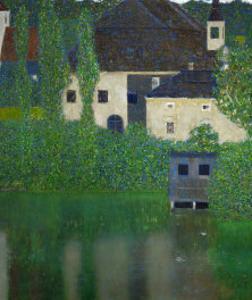 Unterach Manor on the Attersee Lake, Austria, 1915-1916 by Gustav Klimt
