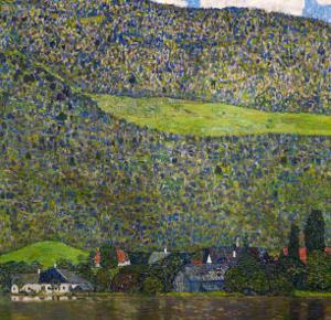 Unterach on Lake Attersee, Austria, 1915 by Gustav Klimt