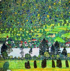 Waldabhang in Unterach Am Attersee, 1917, Slope in a Forest on Atterse-Lake by Gustav Klimt