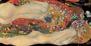 Water Serpents II, c.1907 by Gustav Klimt