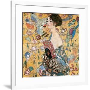 Woman with fan by Gustav Klimt