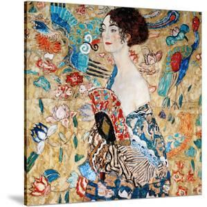 Woman with Fan by Gustav Klimt