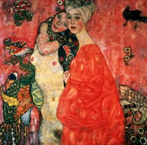 Women Friends, 1916-17 (Destroyed in 1945) by Gustav Klimt
