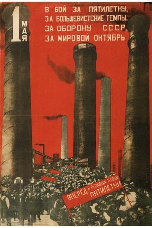 First of May. Join the Battle for the Five Year Plan, 1931